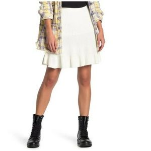 NWT Free people solid gold skirt cream